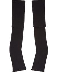 Stella McCartney Black Long Fingerless Gloves