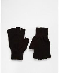 Asos Fingerless Gloves In Black