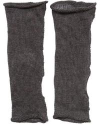 Isabel Benenato Linen Knit Fingerless Gloves
