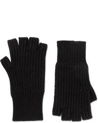 rag & bone Kaden Ribbed Cashmere Fingerless Gloves