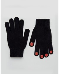Monki Nail Design Gloves With Touch Screen