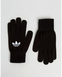 adidas Originals Trefoil Logo Gloves In Black Ay9338