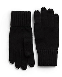 Portolano Merino Wool Ribbed Cuff Gloves