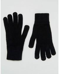 Asos Touchscreen Gloves In Black