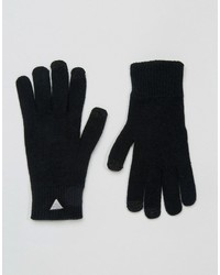 Asos Touchscreen Gloves With Triangle Logo