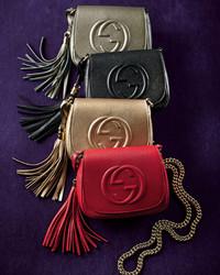 938d1cda542 ... Gucci Soho Leather Chain Crossbody Bag Black