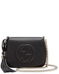 Gucci Soho Leather Chain Crossbody Bag Black