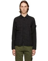 Stone Island Black 119f4 Ghost Jacket