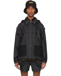 Fendi Black Ff Vertigo Backpack Jacket
