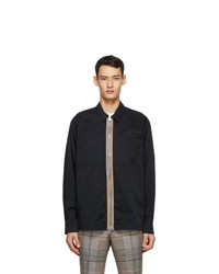 Burberry Black Icon Stripe Casual Shirt