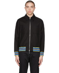Burberry Black Icon Stripe Harrington Jacket