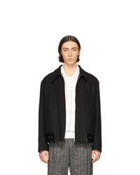 Our Legacy Black Leather Hem Jacket