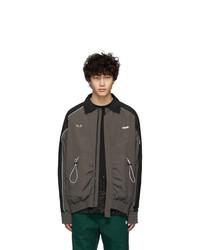 Ader Error Black Oversized Patch Jacket
