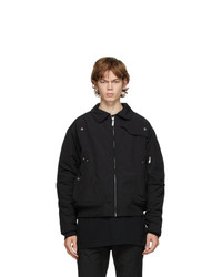 C2h4 Black Quilted Technical Jacket