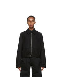 Lemaire Black Wool Zipped Jacket