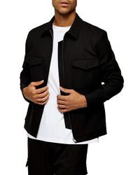 Topman Four Pocket Classic Fit Shirt Jacket
