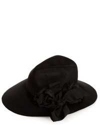 Gucci Asymmetric Fur Felt Wide Brim Hat