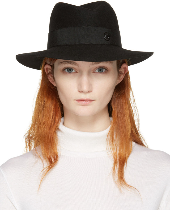 nouvelle collection codes promo attrayant et durable $650, Maison Michel Black Felt Virginie Fedora