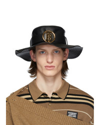 Burberry Black Lambskin Monogram Desert Hat