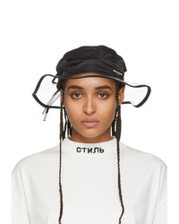Heron Preston Black Pvc Beach Hat