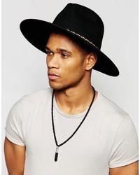 b9bc5857a66071 Asos Brand Wide Brim Fedora Hat In Black Felt With Braid Band, $41 ...