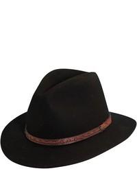 Classico crushable felt safari hat black medium 10347
