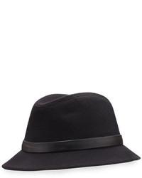 Loro Piana Ingrid Baby Cashmere Felt Fedora Hat Black