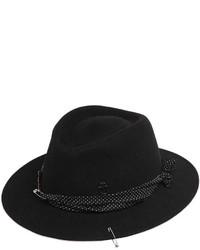 Maison Michel Thadee Safety Pin Rabbit Fur Felt Hat