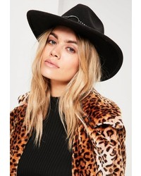 Missguided Black Studded Fedora
