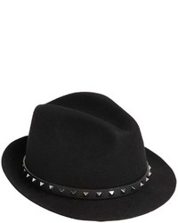 Valentino Rockstud Lapin Fur Felt Hat