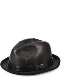 John Varvatos Star Usa Band Accented Leather Fedora