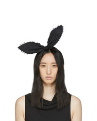 Maison Michel Black Heidi Rabbit Headband