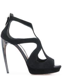 Alexander McQueen Horn Heel Sandals