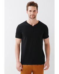 21men 21 Contrast Trim Henley Tee