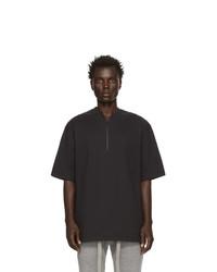 Fear Of God Black Half Zip Henley T Shirt