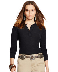 Polo Ralph Lauren Button Front Henley Top