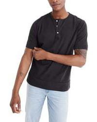 Madewell Gart Dye Henley T Shirt