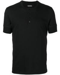Tom Ford Henley Buttoned Up T Shirt