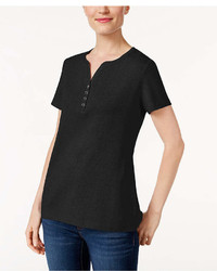 Karen Scott Henley T Shirt Created For Macys