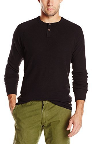 Hugo Boss Boss Orange Trucker Long Sleeve Waffle Henley Shirt