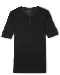 Balmain Linen Henley T Shirt