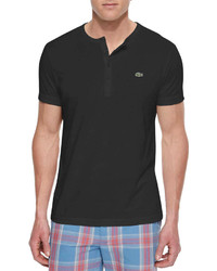 Pima cotton henley t shirt black medium 249952