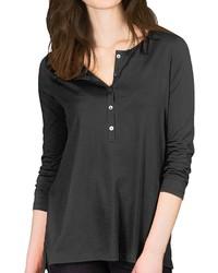 Lilla P Pima Jersey Henley Tunic Shirt