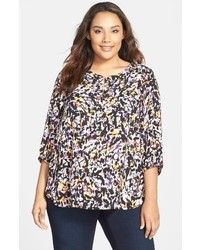 Plus size henley top medium 1195888