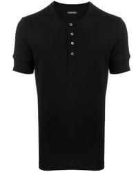Tom Ford Short Sleeved Henley T Shirt