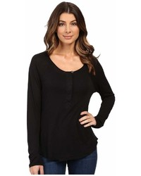 Splendid Slub Tees Long Sleeve Henley