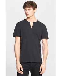 John Varvatos Star Usa Short Sleeve Eyelet Henley