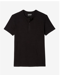 Express Supersoft Short Sleeve Henley Undershirt