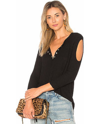 Chaser Thermal Cold Shoulder Henley