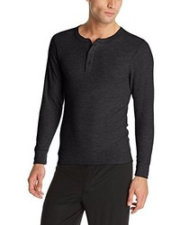 Hanes Big Red Label X Temp Thermal Shirt Long Sleeve Henley Top